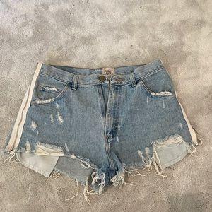 Zipper high-waisted Jean shorts
